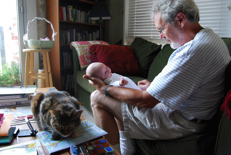 At home with Moxie, and Pop Pops.