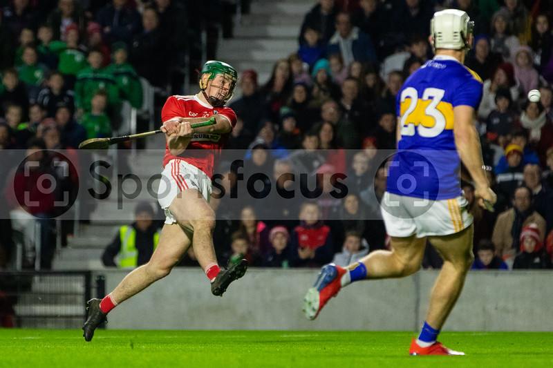 Cork's Robbie O'Flynn shoots his sides first goal