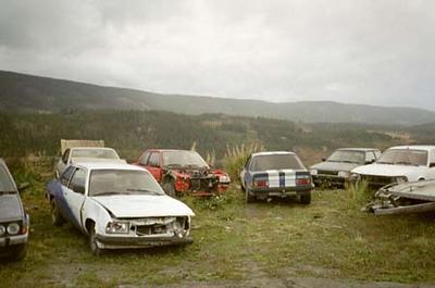 Gutta på fjelltur - Opel-sightseeing i _Vællers_ - oktober