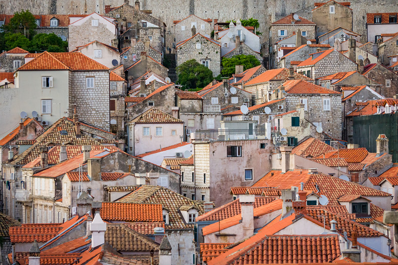 Rooftops of Old Town Dubrovnik, Croatia
