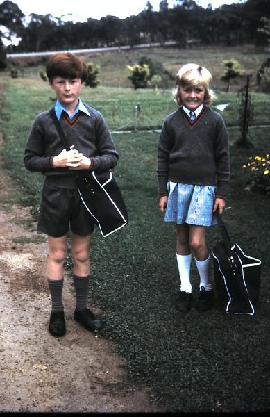 1974-3 (31) David 10 yrs 3 mths, Susan 8 yrs 7 mths ready for school @ Yea.JPG