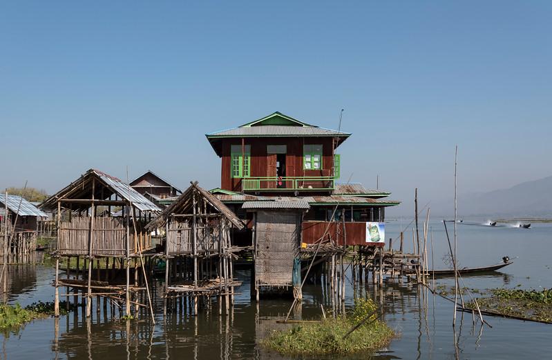 Stilt house on Inle Lake, Burma (Myanmar)