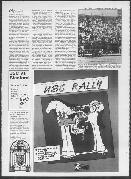 Daily Trojan, Vol. 94, No. 41, November 02, 1983