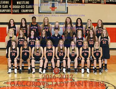 2016-2017 OGHS Girls Basketball