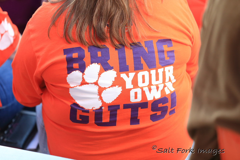 Two weeks after Dabo Swinney said it on the sideline after beating Notre Dame, BYOG was everywhere.  Clemson University - Go Tigers!