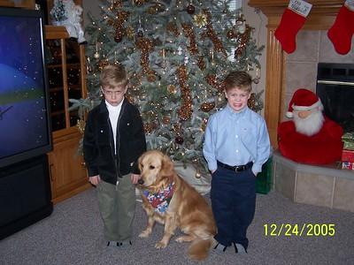 Boys & Abby Christmas 2005