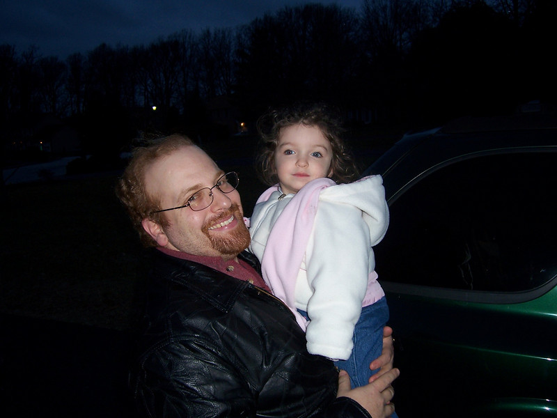 Riley Katz and her dad Andy. (May 2006)
