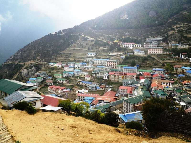 Namche Bazar (11,286ft = 3.440m) - capital city of Solu Khumbu Valley on May 23rd.