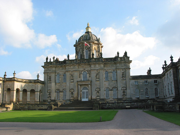 The back entrance to Castle Howard, Yorkshire.