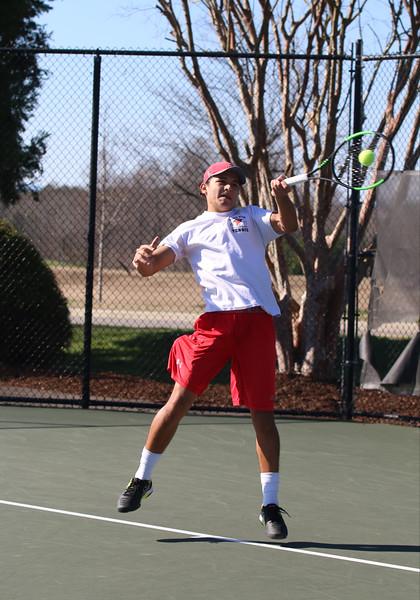 Gardner-Webb Runnin Bulldogs Men's Tennis team came out triumphant against Belmont Abbey on February 14, 2020.