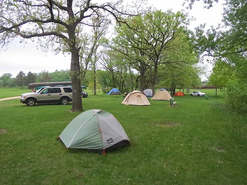 This is the campsite at Joe Pietrek Jr County Park.