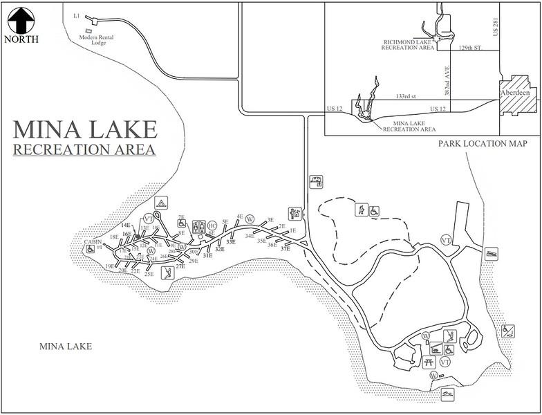Mina Lake Recreation Area (Campground Map)