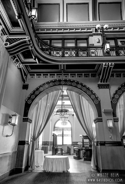 Bar Entrance - Black & White Photography by Wayne Heim