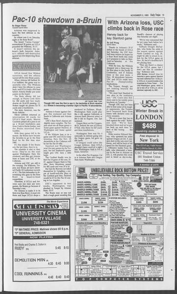 Daily Trojan, Vol. 121, No. 45, November 03, 1993