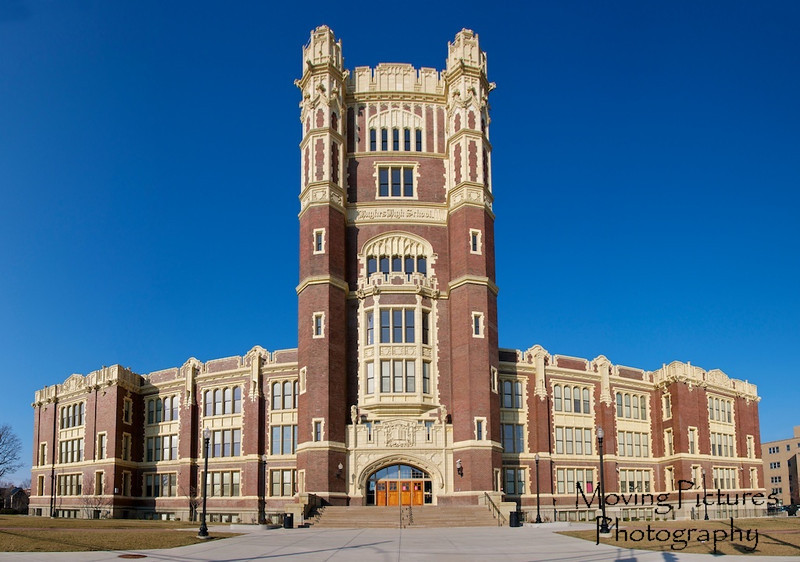 Hughes High School - 2 point perspective panorama