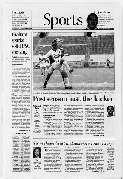 Daily Trojan, Vol. 141, No. 49, November 07, 2000