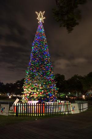 Houston at night in December
