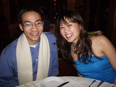 2005.05.11 Wed - Tiffany Louie's Surprise B-day @ Chez Panisse restaurant & Kyle's apt