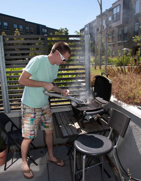 Tim did a great job of pre-cooking the ribs, then finishing them on the grill.