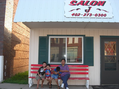 2009-07-19 Boys with Grandma Ester around Long Pine