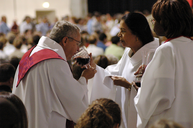 Communion during opening worship