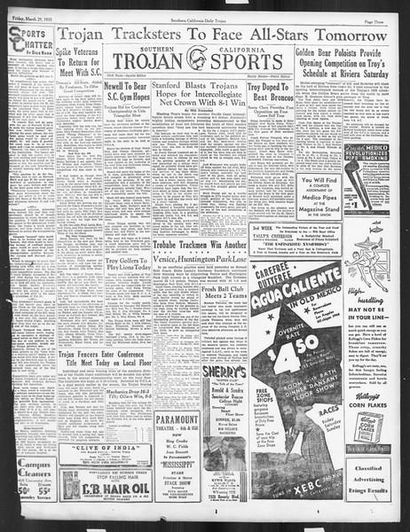 Daily Trojan, Vol. 26, No. 106, March 29, 1935