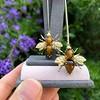 Vintage Bee Conversion Earrings 16