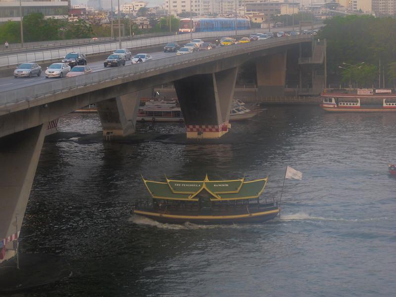 Rush hour on the Chao Phraya River, Bangkok, Thailand.