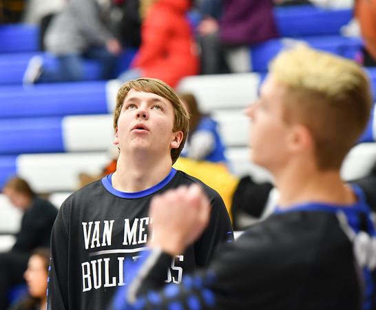 Van  Meter Boys Varsity Basketball vs Pleasantville 2-5-19