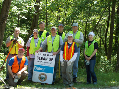 5.11.12 Deep Run Stream Cleanup Along Race Road With the Baker Group in Elkridge/Hanover