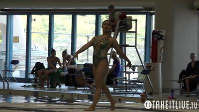 E11 Junior Solo Finals Competition 2015 U.S. Open Synchronized Swimming Championships - Takeitlive.tv Livesynchro Channel