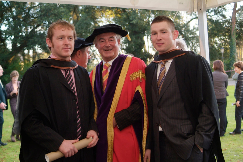 Aidan O'Driscoll, Midleton, Co. Cork and Philip Ryan, Ballyclough, Co. Limerick, who were both conferred with BSc in Construction Management and Engineering at W IT, pictured with Prof. Kieran R. Byrne, Director, Waterford Institute of Technology. (pic-photozone)