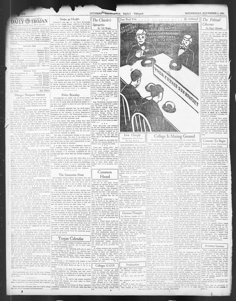 Daily Trojan, Vol. 24, No. 38, November 02, 1932