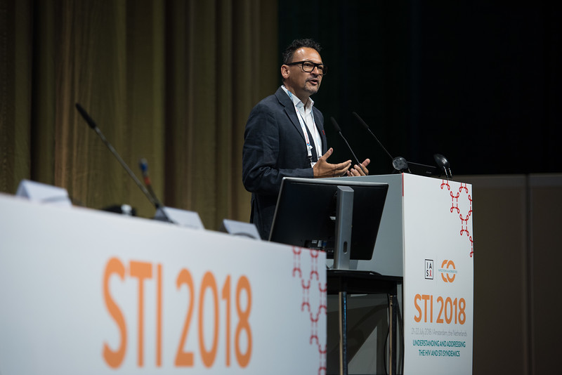 22nd International AIDS Conference (AIDS 2018) Amsterdam, Netherlands   Copyright: Marcus Rose/IAS  Photo shows: STI 2018. Speaker: Henry de Vries.