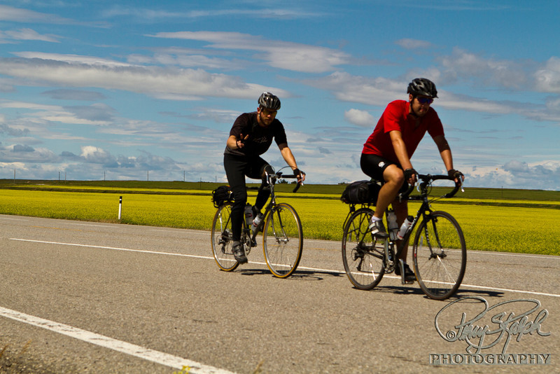 Riding Through the Canola Fields