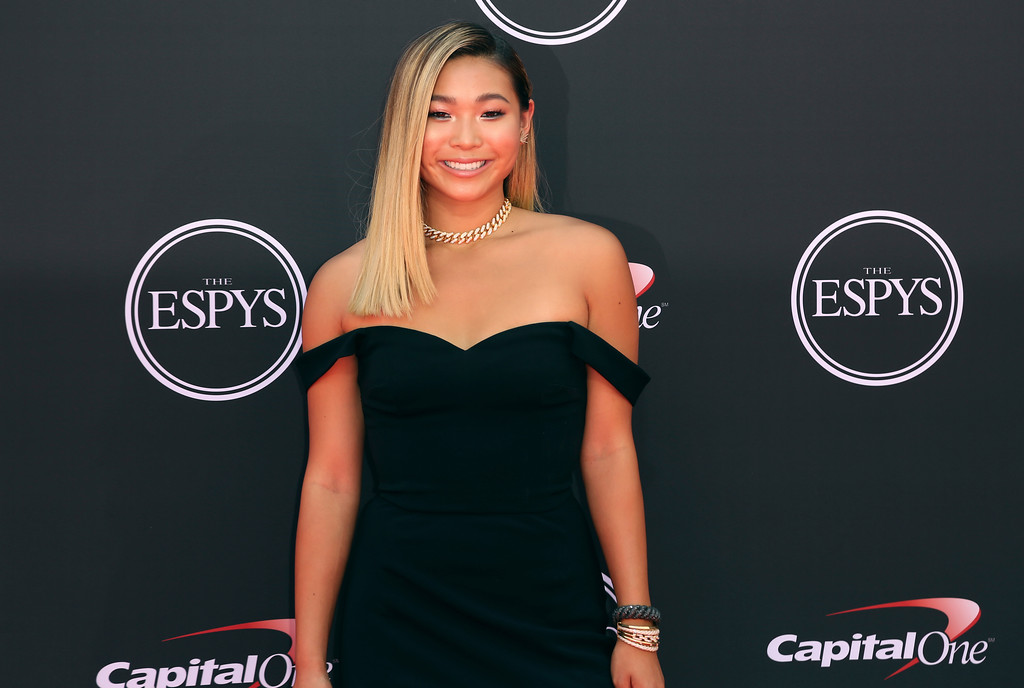. Snowboarder Chloe Kim arrives at the ESPY Awards at Microsoft Theater on Wednesday, July 18, 2018, in Los Angeles. (Photo by Willy Sanjuan/Invision/AP)