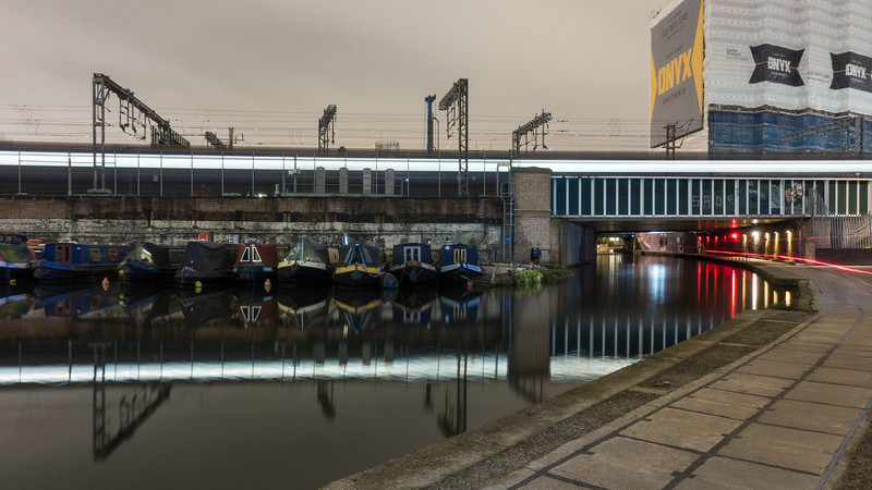 Eurostar train crossing the Regent's Canal