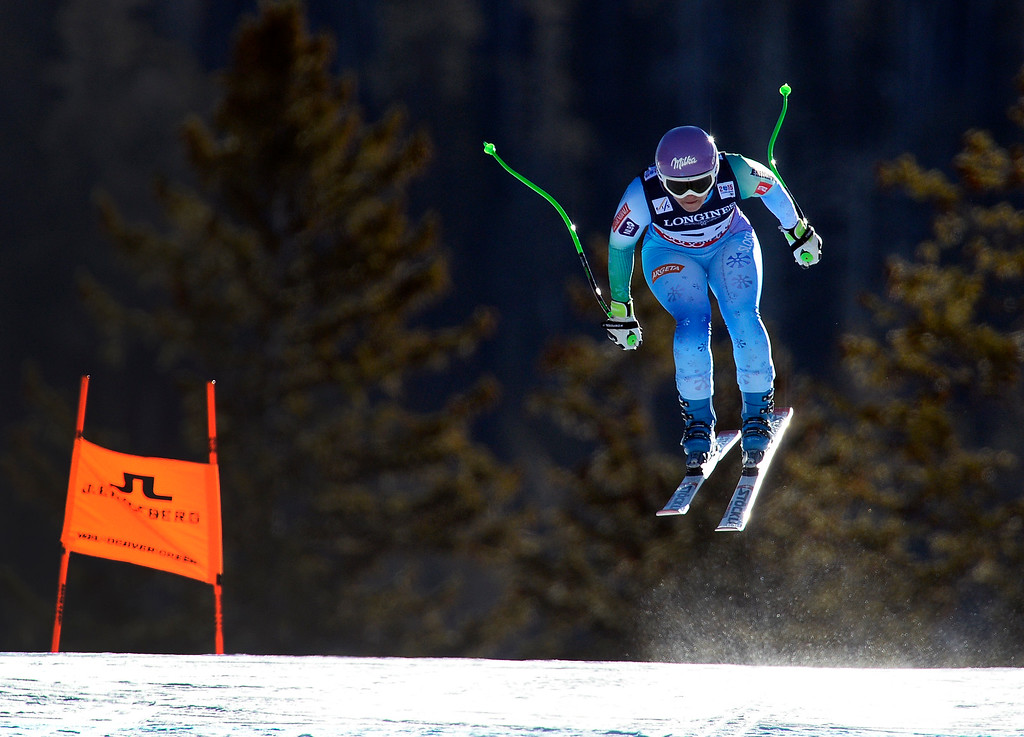 . BEAVER CREEK, CO - FEBRUARY 9: Tina Maze of Austria competes in the Women\'s downhill portion of the women\'s alpine combined race at the FIS Alpine World Ski Championships in Beaver Creek, CO. February 8, 2015. (Photo By Helen H. Richardson/The Denver Post)
