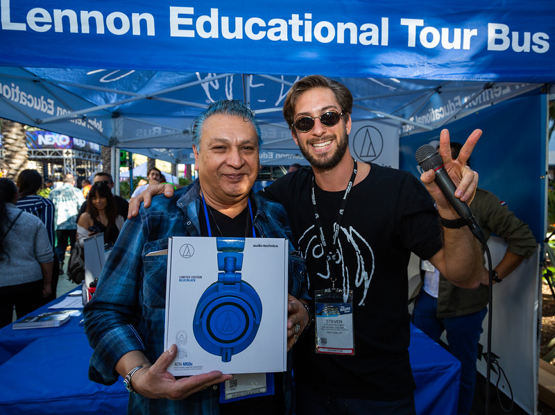 2019_01_27, Anaheim, Audio-Technica, CA, giveaway, NAMM, Steven Meloney