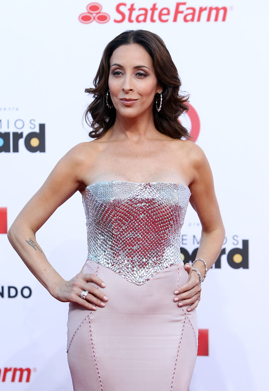 . Mexican actress Adriana Lavat arrives at the Latin Billboard Awards in Coral Gables, Fla. Thursday, April 25, 2013. (Photo by Carlo Allegri/Invision/AP)
