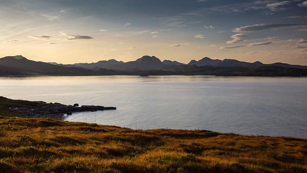 Torridon mountainscape over Gair Loch