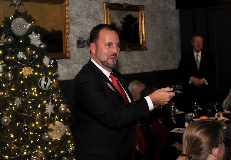 Ohio University president visits Cincinnati on December 9, 2017. Photos by Samantha Grier. www.samanthagrier.com