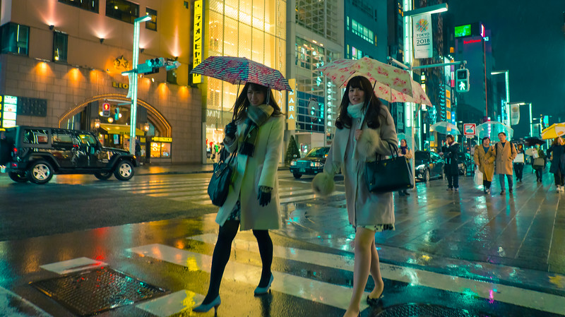 A COOL RAINY NIGHT IN TOKYO