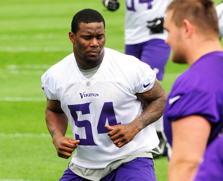 . Rookie linebacker Gerald Hodges worked out as the Minnesota Vikings practice on Wednesday. (Pioneer Press: Scott Takushi)