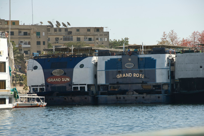 Nile  riverboats on harbor - Aswan, Egypt