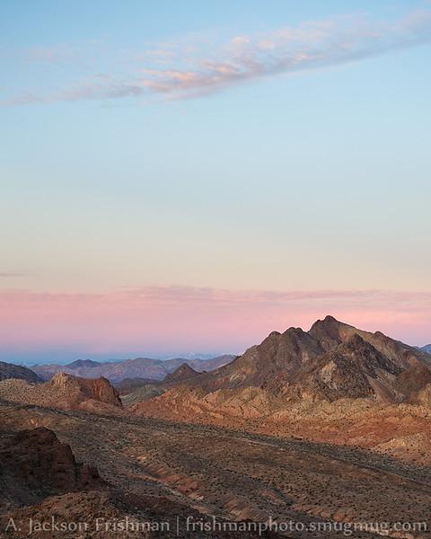 Sunrise twilight in southern Nevada, Lake Mead, National Recreation Area