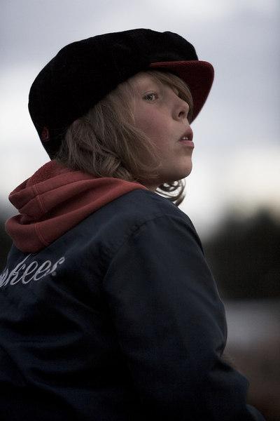 Boy in the crowd at the Sigur Rose concert in Klambratun, Reykjavik.
