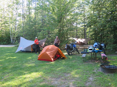 Moto Camping in VT 2015
