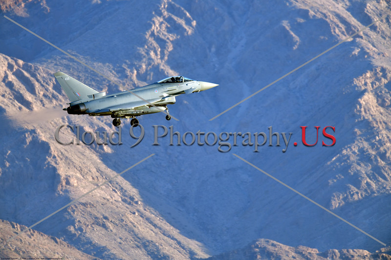 Eurofighter Typhoon-British RAF 0009 A British RAF Eurofighter Typhoon jet fighter, ZK433, landing at Nellis AFB during a Red Flag exercise in 2020, military airplane picture by Peter J. Mancus     852_7539     DONEwt.JPG