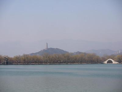 Jade peak pagoda with the MIrror Bridge and Jade belt bridge in the foreground